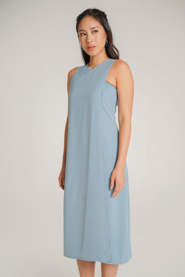 Blair Crossover Dress (Blue)