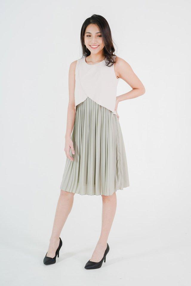 Valencia Pleated Dress