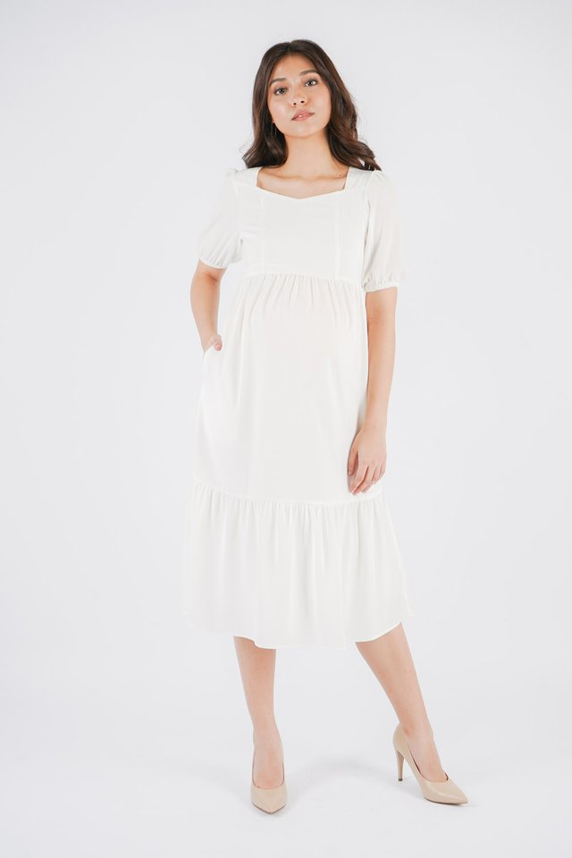 Clarissa Midi Maternity Dress